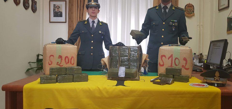Napoli, scacco alla criminalità organizzata partenopea. Ingente sequestro di hasshish a Poggioreale. Oltre 8mila Kg di hashish per un valore di circa 80 milioni di euro